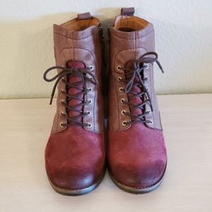 Naya Lace Up Suede Boots size 9